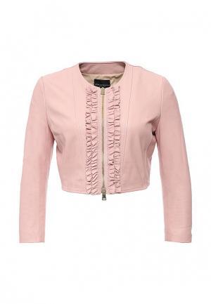 Куртка кожаная Atos Lombardini. Цвет: розовый