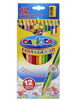Набор карандашей цветных CARIOCA TRIANGULAR, 12 цв., трехгранные Universal. Цвет: синий