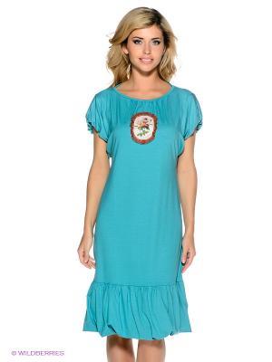 Платье Наталья Новикова. Цвет: бирюзовый