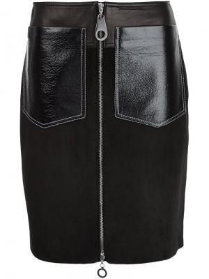 Юбка с накладными карманами Edun. Цвет: чёрный