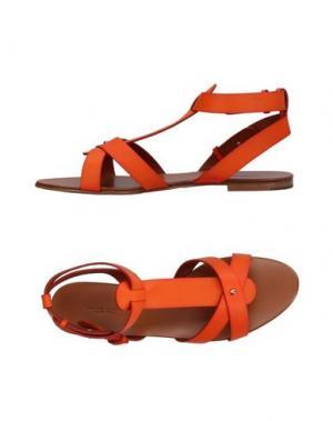 Сандалии VISCONTI & du RÉAU. Цвет: оранжевый