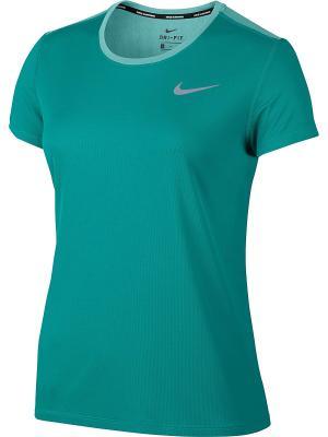 Футболка W NK BRTHE RAPID TOP SS Nike. Цвет: зеленый