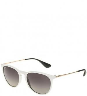 Солнцезащитные очки в белой оправе Ray Ban. Цвет: белый