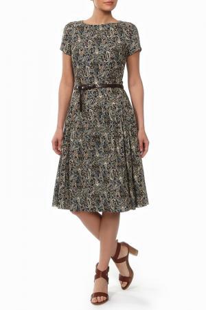 Платье Бэст мини NATALIA PICARIELLO. Цвет: синий, принт хаки
