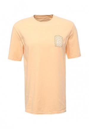 Футболка Quiksilver. Цвет: оранжевый