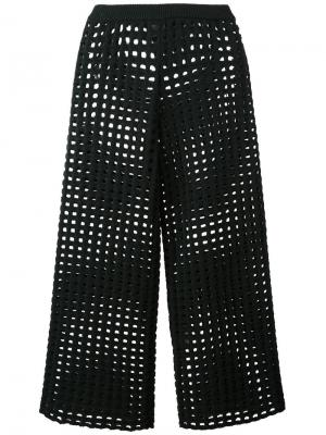Вязаные укороченные брюки Arthur Arbesser. Цвет: зелёный