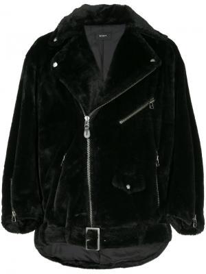Ворсистая байкерская куртка G.V.G.V.. Цвет: чёрный