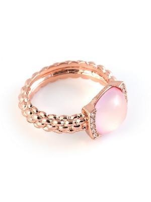Кольцо Selena. Цвет: бледно-розовый, кремовый