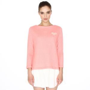 Свитшот с длинными рукавами и вышивкой ракетки PEPALOVES. Цвет: розовый