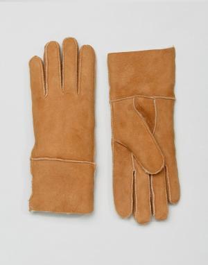 Barney's Originals Перчатки из овчины Barneys. Цвет: рыжий