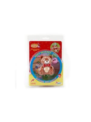 Игрушка для купания Мишка Играем вместе. Цвет: коричневый, красный