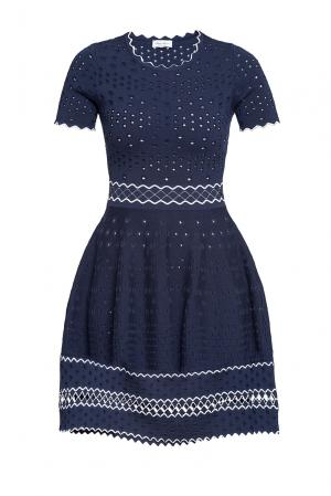 Платье из хлопка 188658 Andre Maurice. Цвет: синий