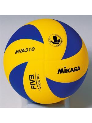 Мяч волейбольный Mikasa. Цвет: синий, желтый