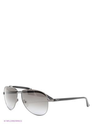 Солнцезащитные очки Salvatore Ferragamo. Цвет: темно-серый