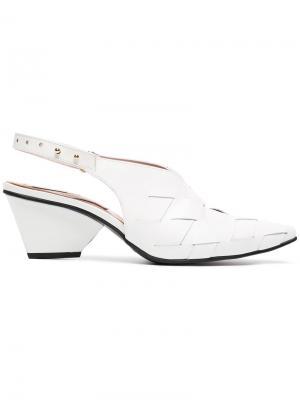 Туфли-лодочки с плетением Reike Nen. Цвет: белый