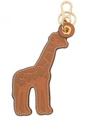 Брелок в форме жирафа Loewe. Цвет: коричневый