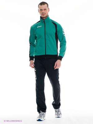 Спортивный костюм SUIT DIFF ASICS. Цвет: зеленый, черный