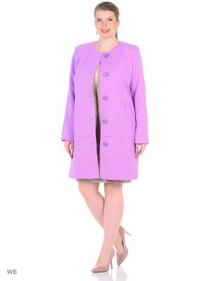 Пальто FORTUNA. Цвет: сиреневый