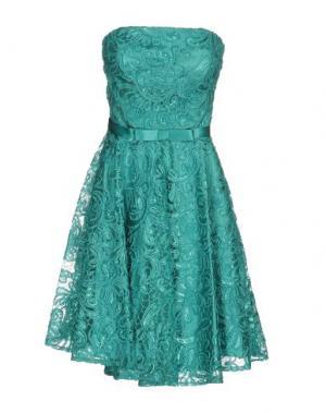 Короткое платье MUSANI COUTURE. Цвет: изумрудно-зеленый