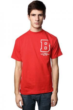 Футболка  Letterman Red Plan B. Цвет: красный