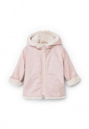 Куртка Mango Kids. Цвет: розовый
