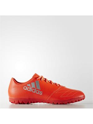 Футбольные бутсы (шиповки) муж. X 16.3 TF Leather Adidas. Цвет: красный