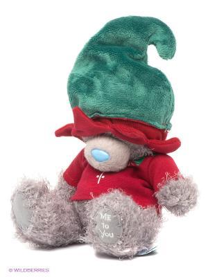 Мишка MTY 18 см - в костме льфа Me to you. Цвет: серый, зеленый