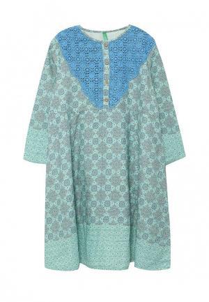 Платье United Colors of Benetton. Цвет: мятный