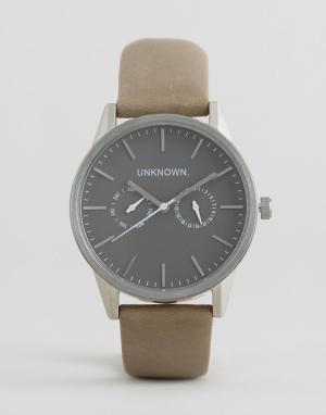 UNKNOWN Часы со светло-бежевым кожаным ремешком. Цвет: бежевый
