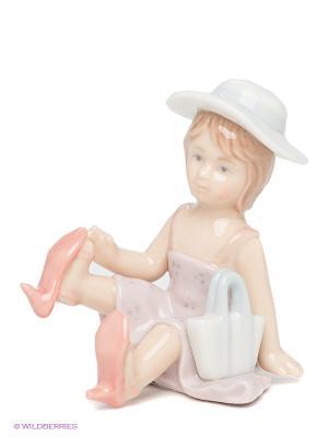 Фигурка Маленькая модница Pavone. Цвет: бледно-розовый, светло-голубой