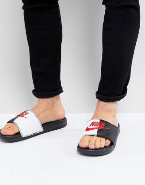 Nike Черные сандалии Benassi JDI 343880-006. Цвет: черный