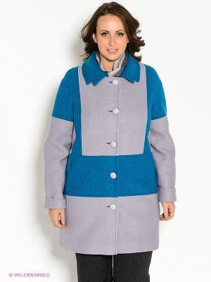 Пальто Klimini. Цвет: лиловый, синий