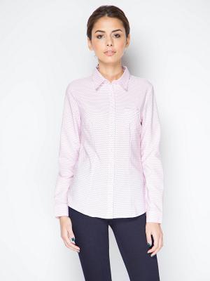 Блузка длинный рукав MARIMAY. Цвет: розовый