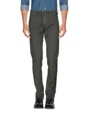 Повседневные брюки SIVIGLIA. Цвет: темно-зеленый