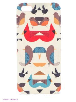 Чехол для IPhone 5 Птички-невелички Mitya Veselkov. Цвет: бежевый, серый