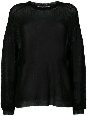 Прозрачный свитер Laneus. Цвет: чёрный