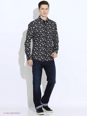 Рубашка Oodji. Цвет: черный, белый