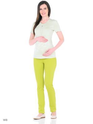Футболка для беременных EUROMAMA. Цвет: зеленый