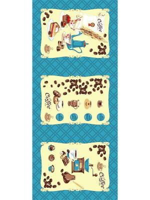 Набор полотенец Letto KVN3-01, хлопок, 3 шт. 47*62см. Цвет: бежевый, голубой