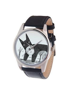 Часы Mitya Veselkov Плюшевый пёс Арт. MV-200. Цвет: черный