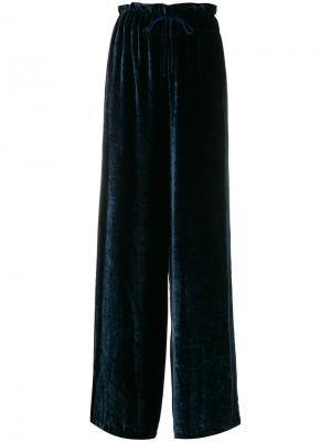 Широкие брюки Federica Tosi. Цвет: синий