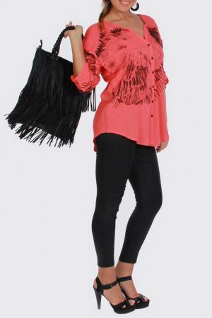 Рубашка Zer otantik. Цвет: красный