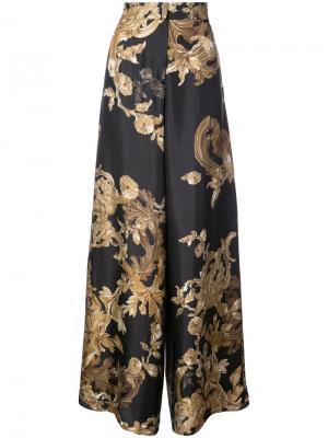 Широкие брюки с принтом Ormalu Vera Wang. Цвет: серый
