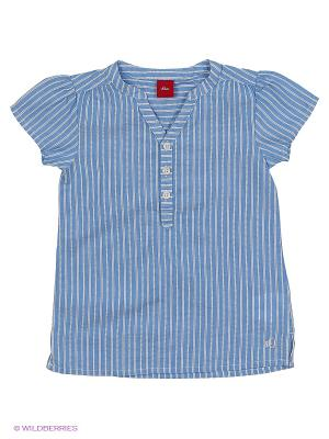 Блузка S.OLIVER. Цвет: синий, светло-зеленый, оранжевый, белый