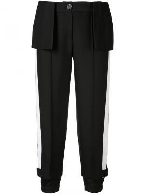 Укороченные брюки с баской Vera Wang. Цвет: чёрный