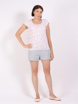 Пижамы Красная Заря. Цвет: светло-серый, белый