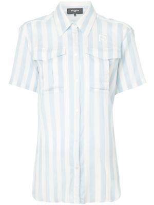 Рубашка в полоску Rochas. Цвет: синий