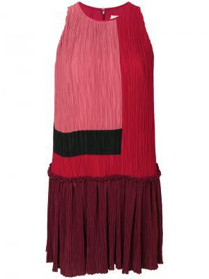 Платье дизайна колор-блок Roksanda. Цвет: красный