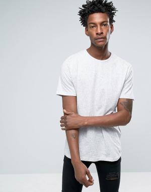 Troy Белая длинная футболка с асимметричным краем Nep. Цвет: белый