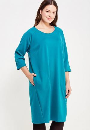 Платье Zarus. Цвет: бирюзовый